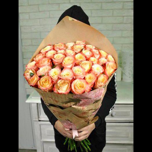 51 РОЗА 50 СМ КАБАРЕ: букеты цветов на заказ Flowwow