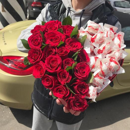 """Розы в коробке """"Райское наслаждение"""": букеты цветов на заказ Flowwow"""