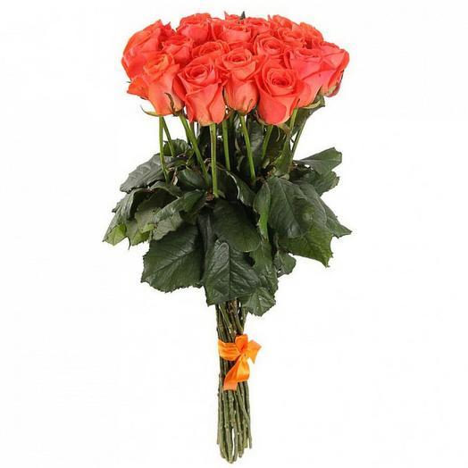 Букет из 15 оранжевых роз: букеты цветов на заказ Flowwow