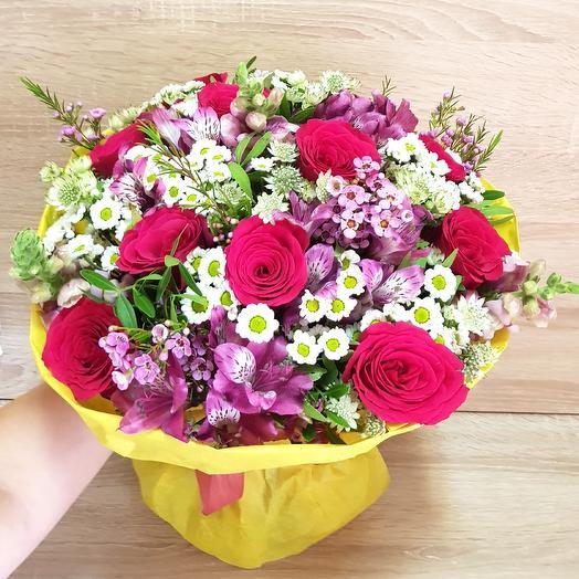 Яркий летний букет: букеты цветов на заказ Flowwow