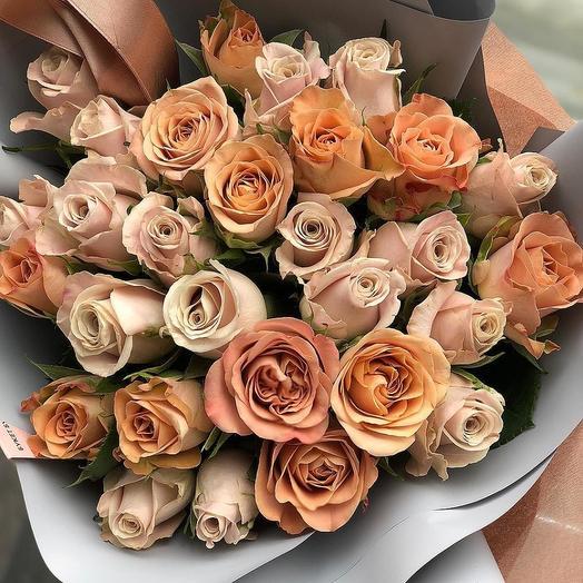 Карамельный чизкейк: букеты цветов на заказ Flowwow
