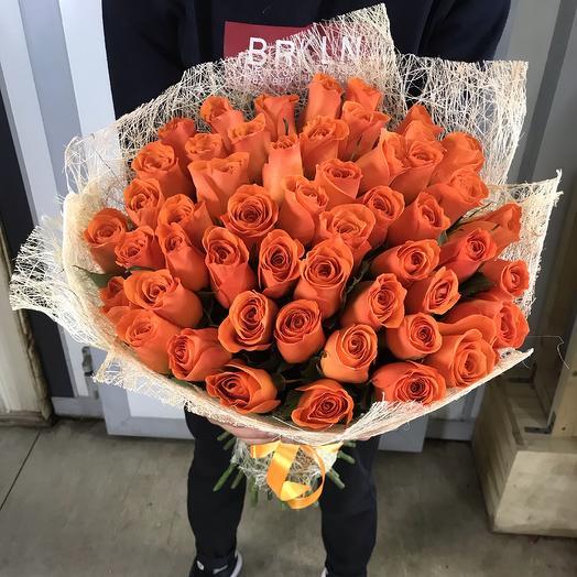 Букет 51 роза вау 60 см: букеты цветов на заказ Flowwow