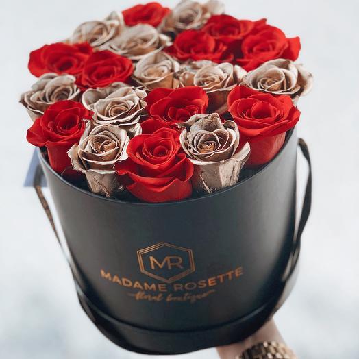 Medium Round Fresh Roses box