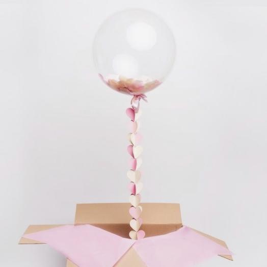 Шар баблс с конфети в коробке: букеты цветов на заказ Flowwow