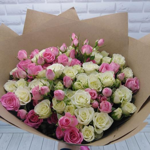 Букет из 29 веточек кустовой: букеты цветов на заказ Flowwow
