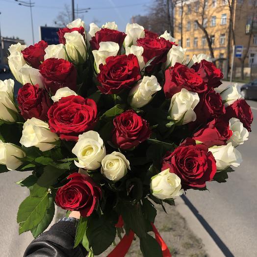 37 роз Микс: букеты цветов на заказ Flowwow