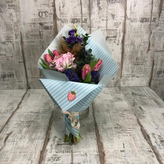 "Букет ""Клубничка"": букеты цветов на заказ Flowwow"