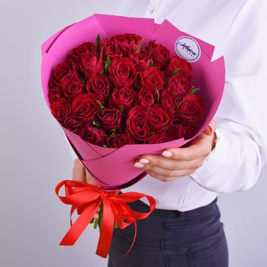 Букет 25 Красных Роз: букеты цветов на заказ Flowwow