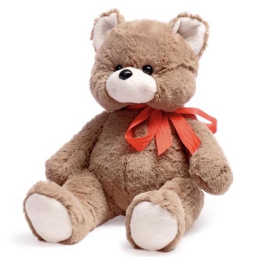 Мягкая игрушка «Медведь Саша» тёмный, 50 см: букеты цветов на заказ Flowwow