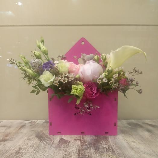 Романтическое послание: букеты цветов на заказ Flowwow