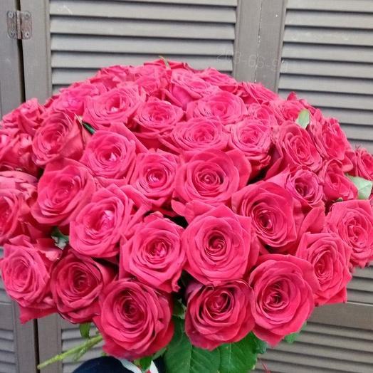 51 роза 50 см на ленту
