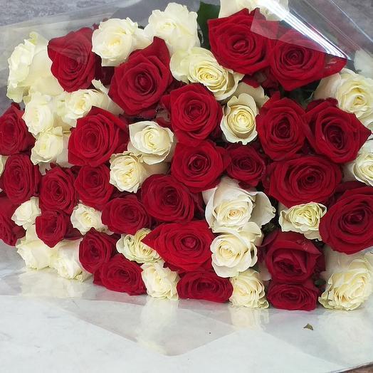Микс из 51 роза