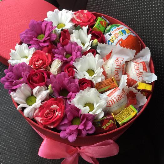 Цветы в коробке 103