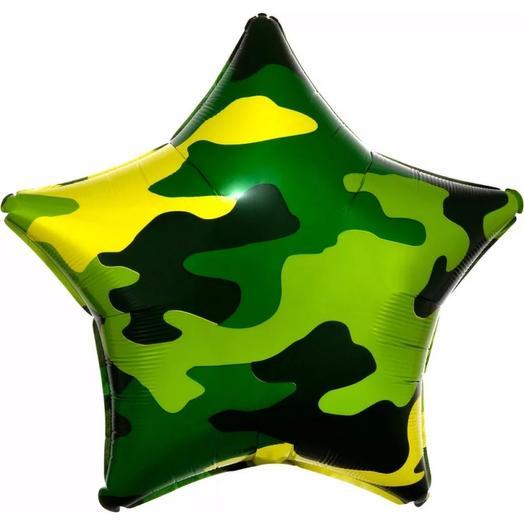 Шар «Звезда» с гелием 18