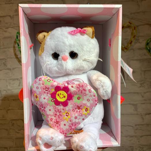 Котёнок Ли-Ли BABY с сердечком, 28см