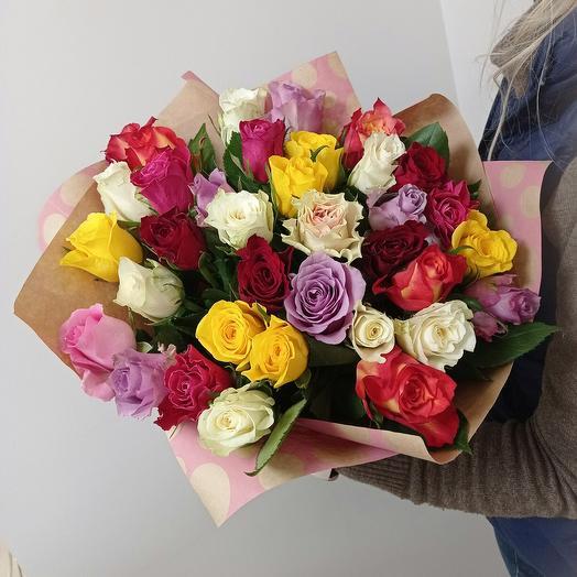 Большой микс 35 роз