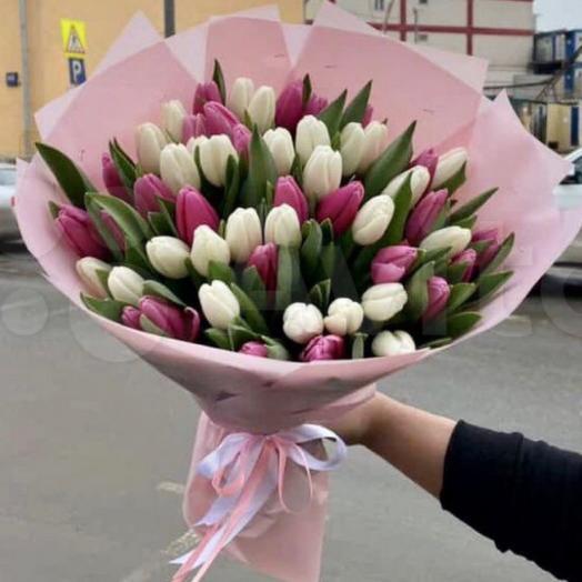 Букет Тюльпаны 51шт