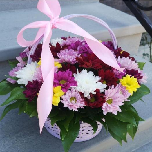 Цветы в коробке « Миксовый бриз»
