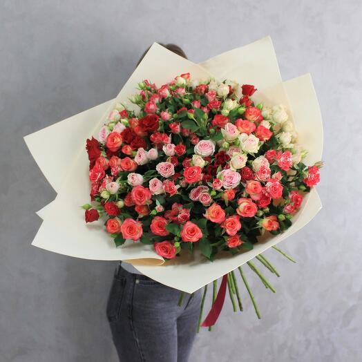 Кустовая Роза 25 микс