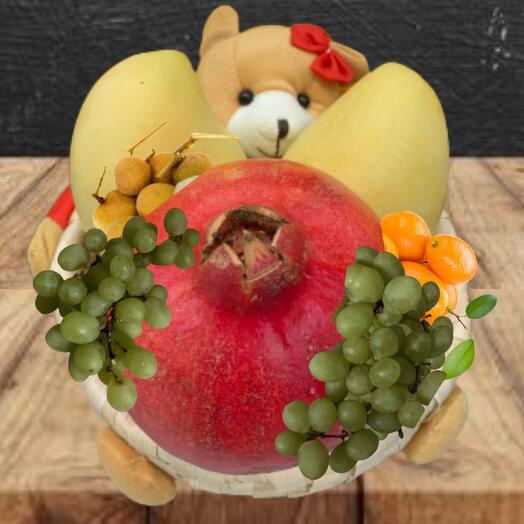 Эко набор фруктов мишка