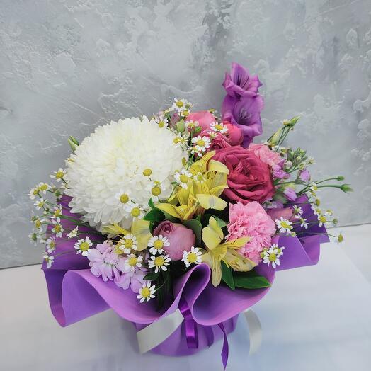 Цветы в коробке Лилу Собран