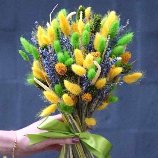 "Букет из сухоцветов ""Яркая весна"": букеты цветов на заказ Flowwow"