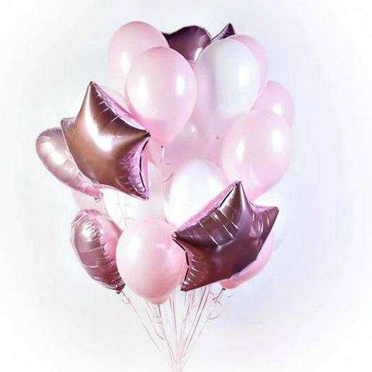 """Фонтан из воздушных шаров """"Зефирчики"""": букеты цветов на заказ Flowwow"""