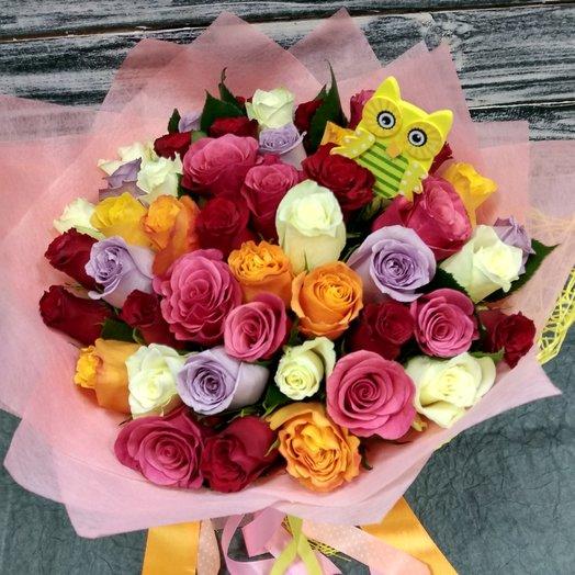 Яркая совушка: букеты цветов на заказ Flowwow