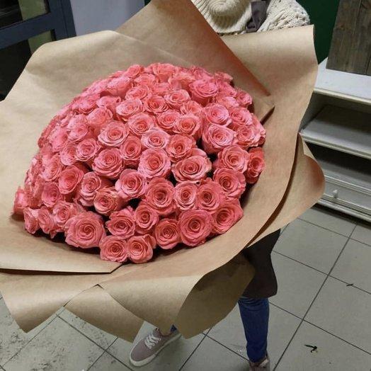 51 Голландская роза в огромной упаковке: букеты цветов на заказ Flowwow
