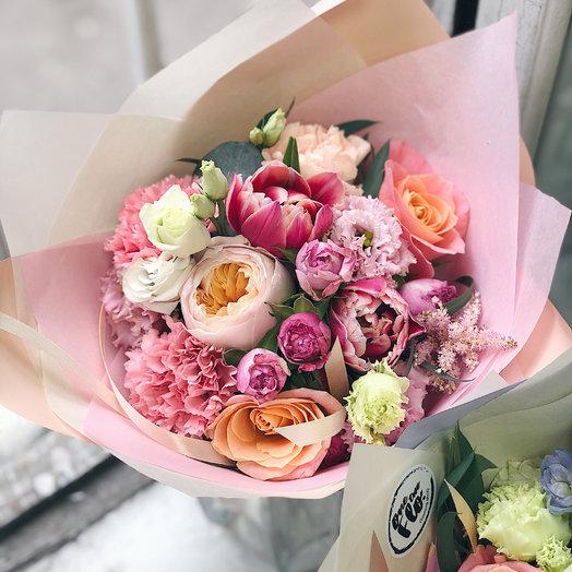 Персиковый небольшой комплимент: букеты цветов на заказ Flowwow