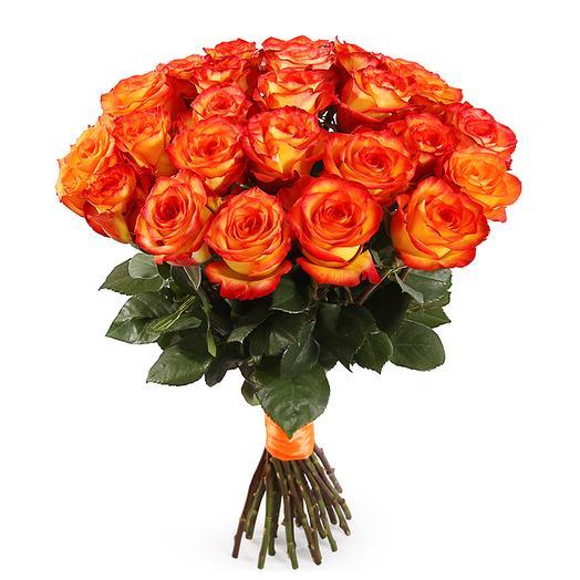 """""""Мандариновый рай"""" букет из 21 розы Эквадор: букеты цветов на заказ Flowwow"""
