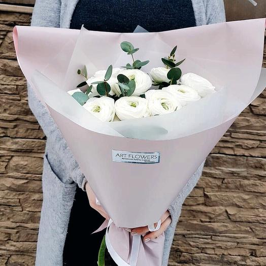 Нежный ранункулюс: букеты цветов на заказ Flowwow