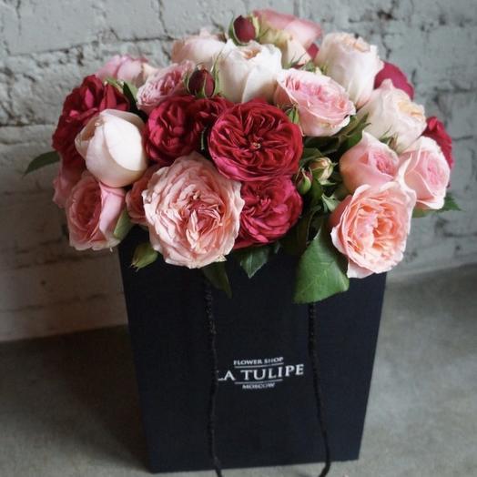 Ароматные садовые розы / 11 шт: букеты цветов на заказ Flowwow