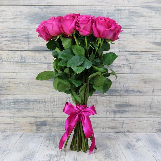 11 розовых роз 50 см: букеты цветов на заказ Flowwow