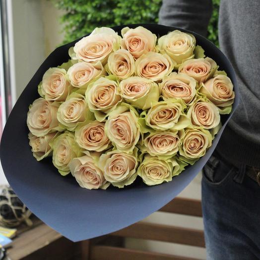 Стильный букет роз: букеты цветов на заказ Flowwow
