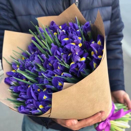 Яркие ирисы: букеты цветов на заказ Flowwow