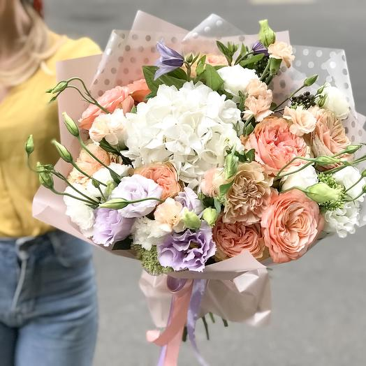 Персиковый рай: букеты цветов на заказ Flowwow