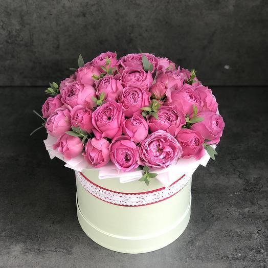 Пионовидные розы 19 штук: букеты цветов на заказ Flowwow