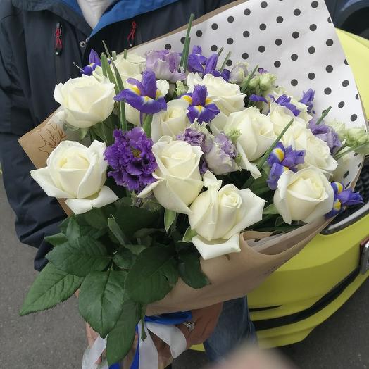 Синее и белое: букеты цветов на заказ Flowwow