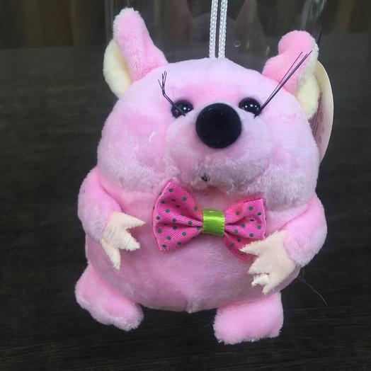 Игрушка мягкая «Мышонок Розовые говорящий»: букеты цветов на заказ Flowwow