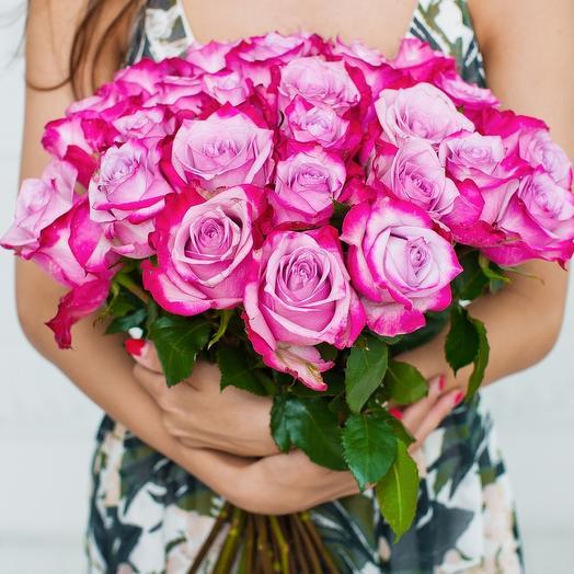 25 роз Дип Перпл: букеты цветов на заказ Flowwow