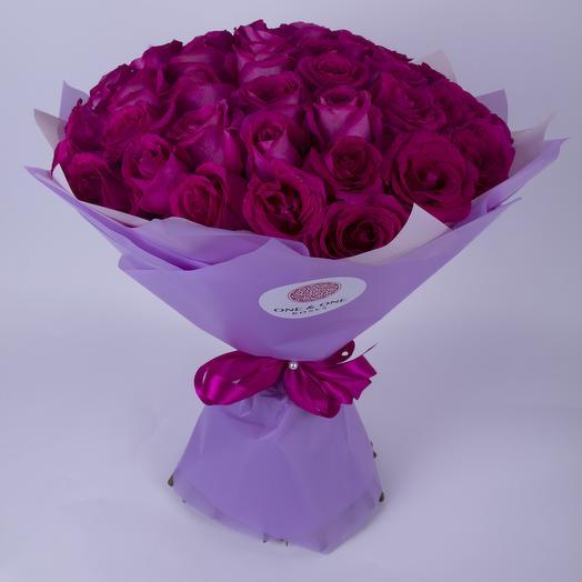 51 роза Пинк Флойд. Эквадор: букеты цветов на заказ Flowwow