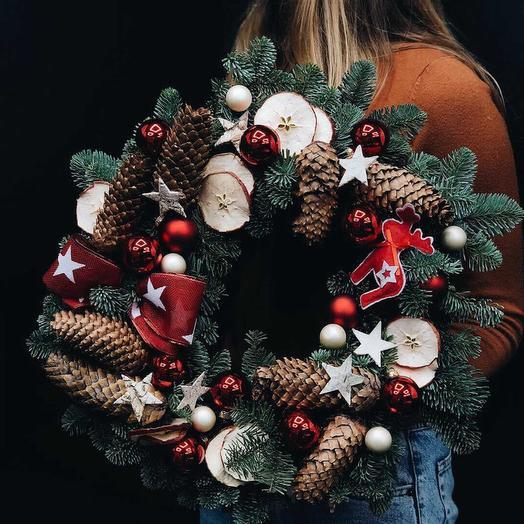 """Венок """"Новый Год"""": букеты цветов на заказ Flowwow"""