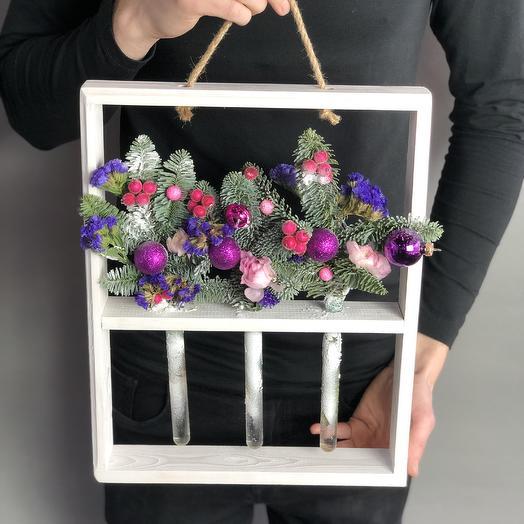 Новогодние Колбочки: букеты цветов на заказ Flowwow