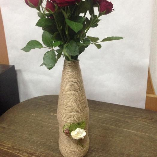 Букет с вазой ручной работы 2: букеты цветов на заказ Flowwow