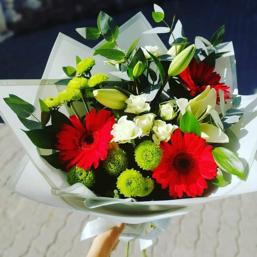 Bright bouquet with gerberas