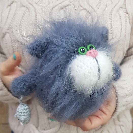 Игрушка ручной работы котик с мышкой: букеты цветов на заказ Flowwow