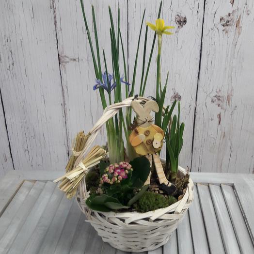 Композиция из весенних цветов: букеты цветов на заказ Flowwow