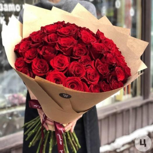 Букет 51 роза Эксплорер