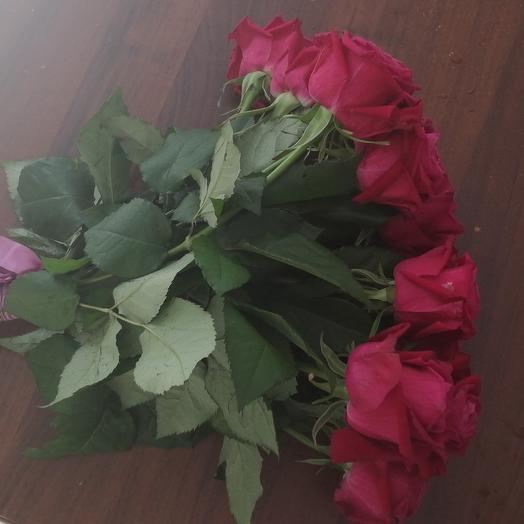 21 малиновая роза 50 см